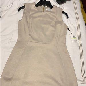 Calvin Klein oat dress sleeveless midi